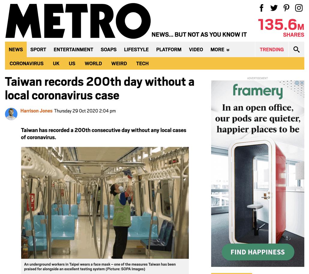 Metro - Covid19 - 29102020