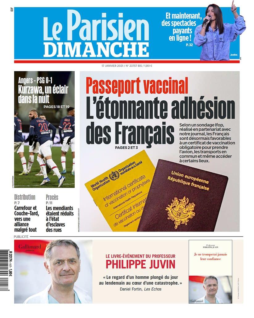 Le Parisien - Covid 19 - 17012021 - Cover