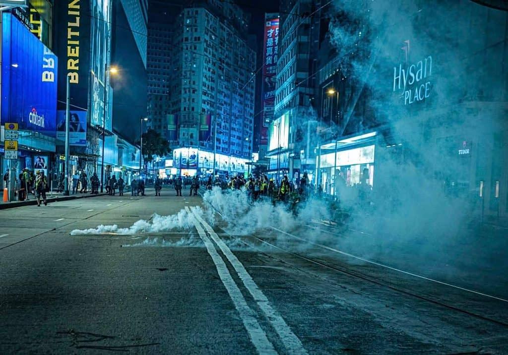Fog the street