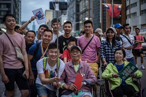 Group people Taipei Pride 2019 smile